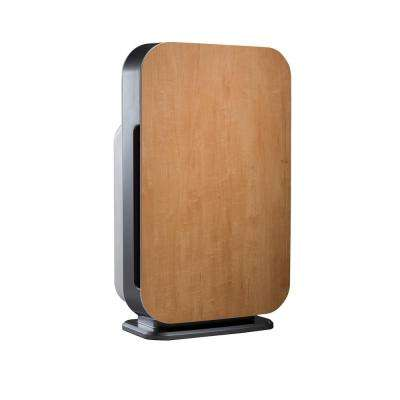 Customizable Air Purifier with HEPA-Pure Filter to Remove Allergies and Dust in Natural Maple