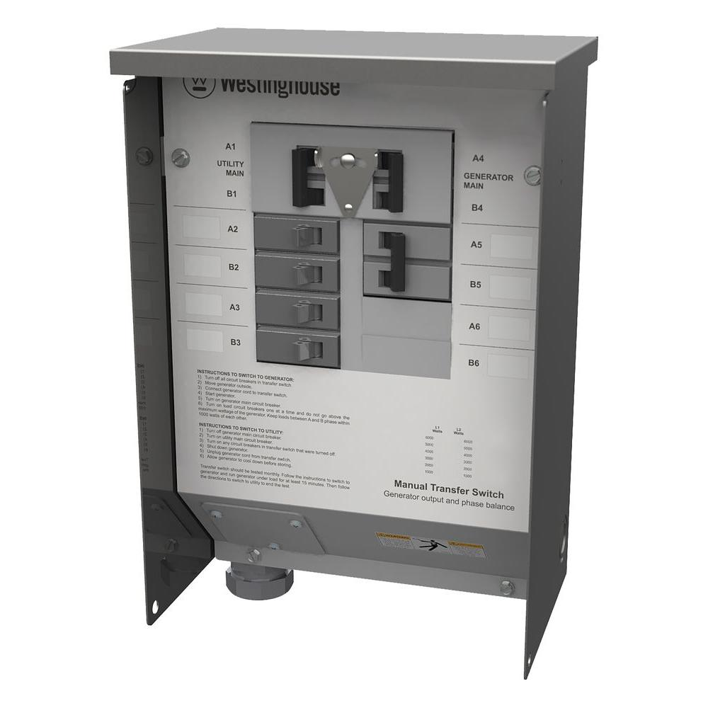 Westinghouse 50-Amp Manual Transfer Switch