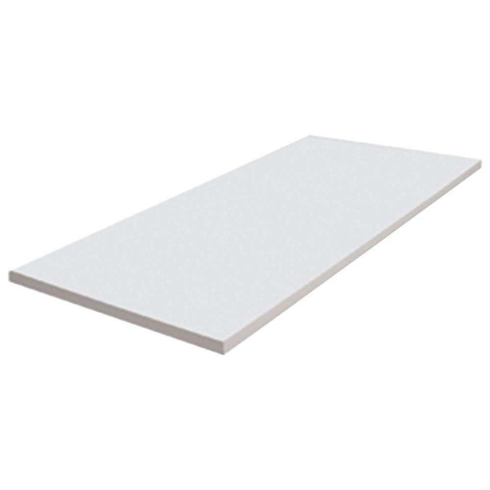 48 in. x 19-1/2 in. Melamine Workbench Top in White