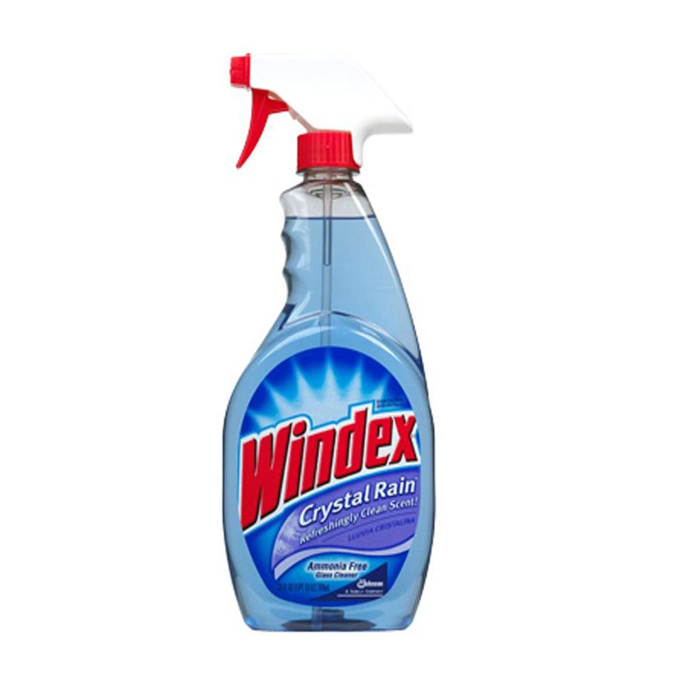 Windex 32 oz. Crystal Rain Scent Ammonia-Free Glass Cleaner (8-Pack)