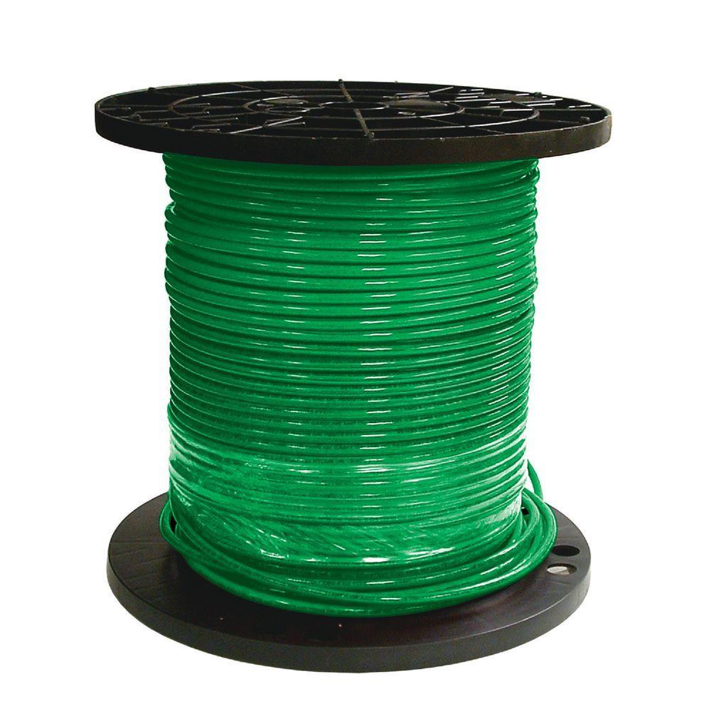 1000 ft. 8 Green Stranded CU SIMpull THHN Wire