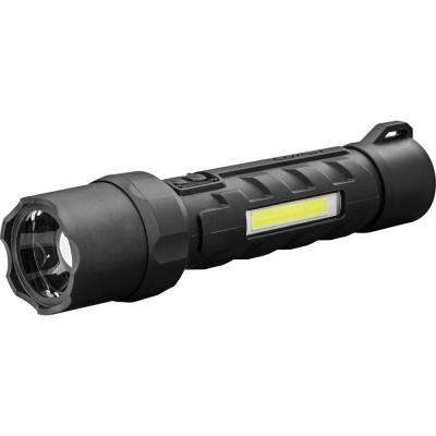 Polysteel 700 Waterproof 800 Lumen Dual Power LED Flashlight with Dual Color (White/Red) C.O.B.