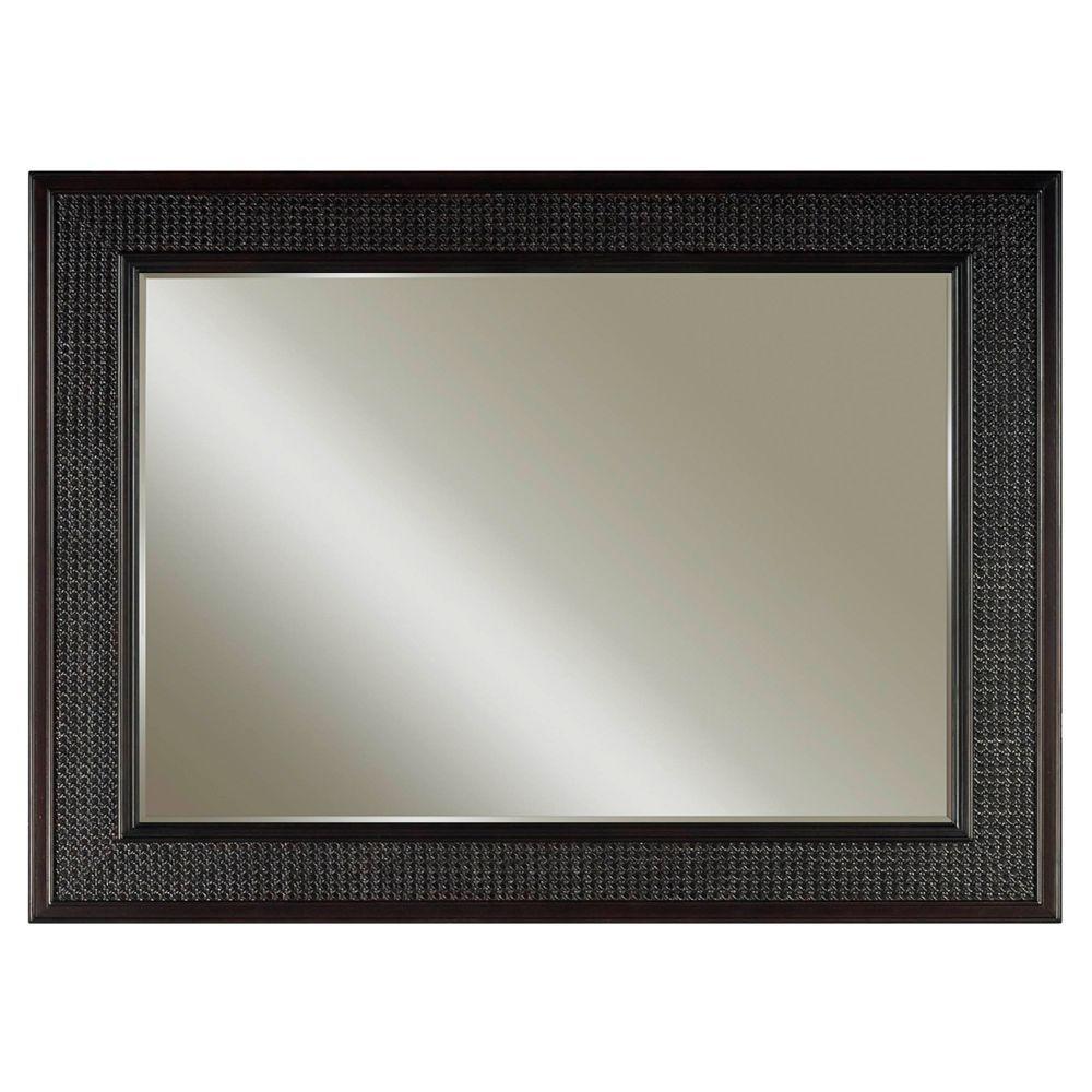 London 36 in. L x 60 in. W Single Wall Mirror in Espresso
