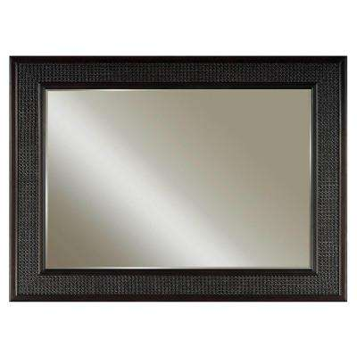 London 36 in. L x 60 in. W Single Wall Mirror in Espresso