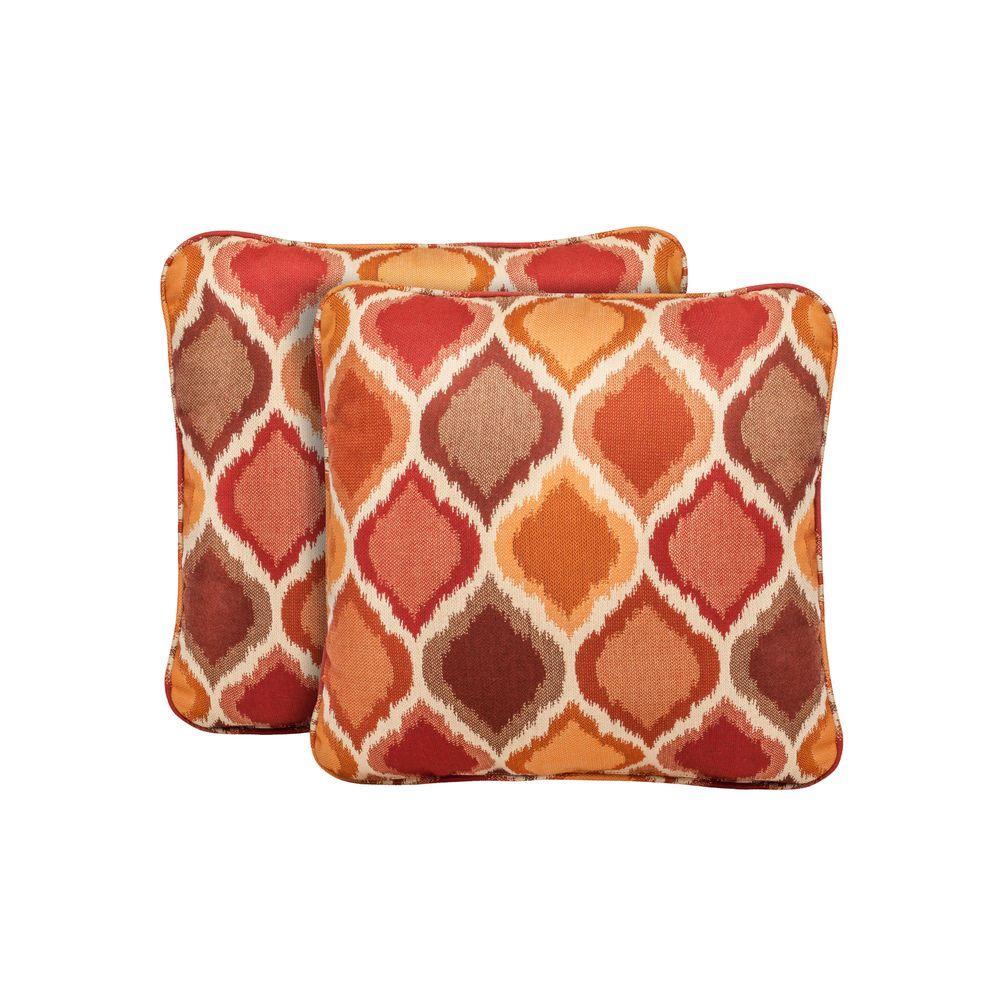 Brown Jordan Highland Empire Chili Outdoor Throw Pillow (2-Pack) by Brown Jordan