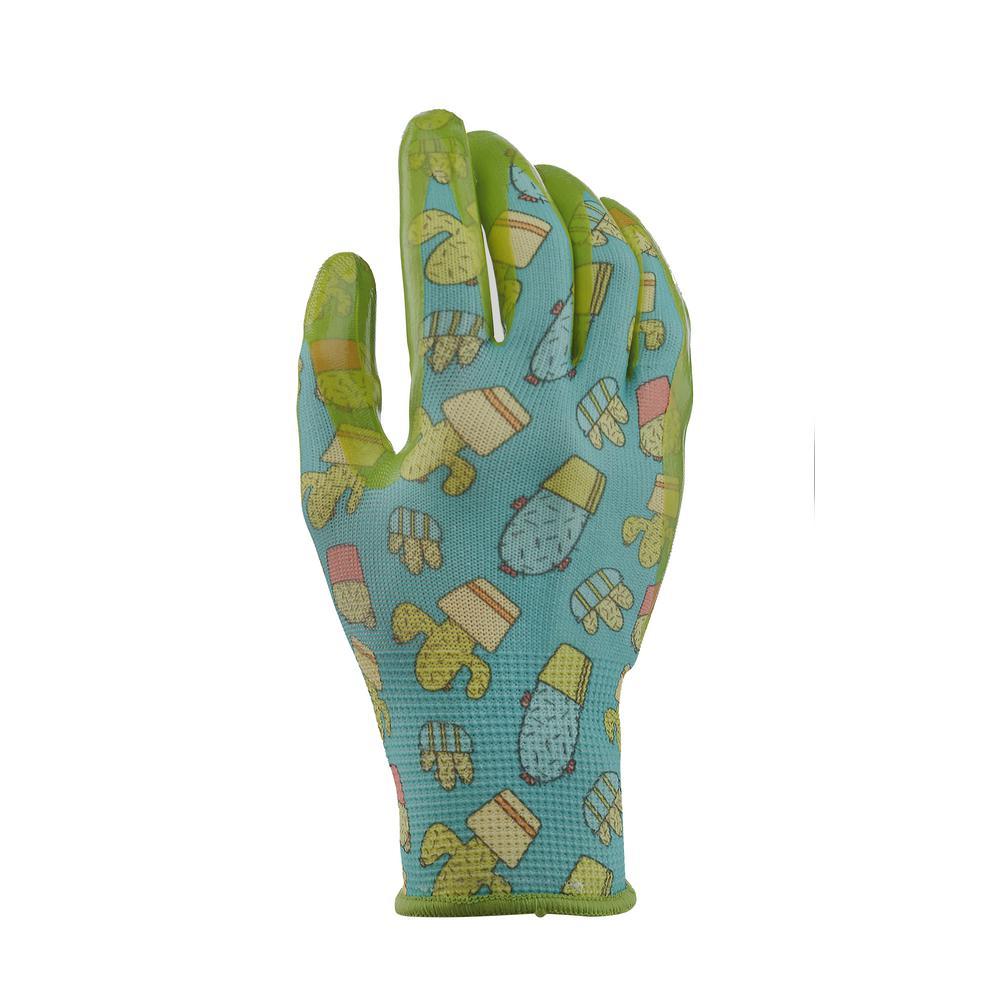 Youth Girls Nitrile Coated Garden Gloves