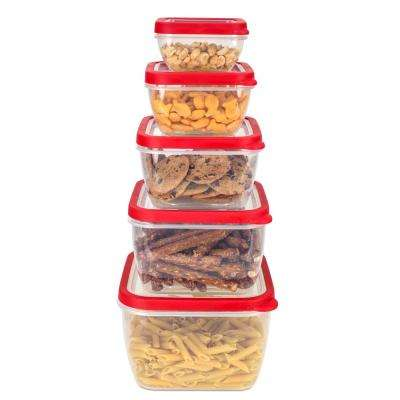 5-Piece Square Storage Container