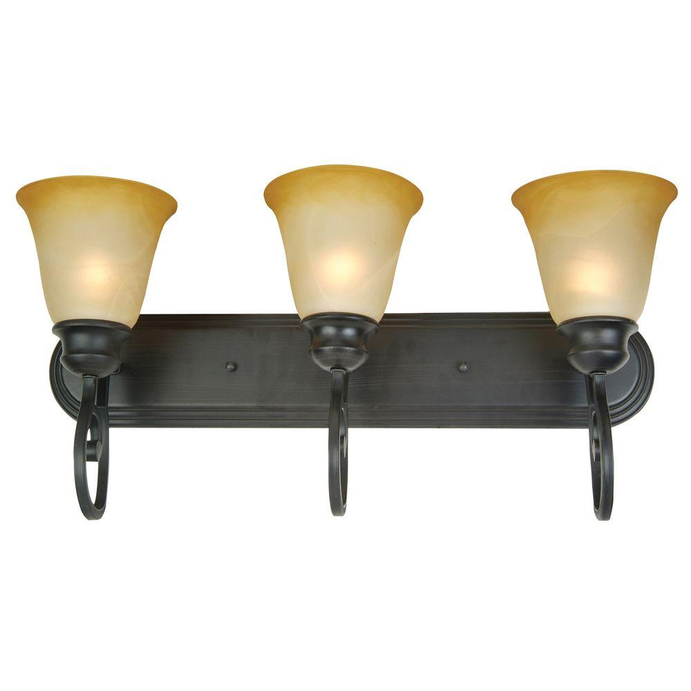 Yosemite Home Decor Royal Arches 3-Light Incandescent Bathroom Vanitys-DISCONTINUED