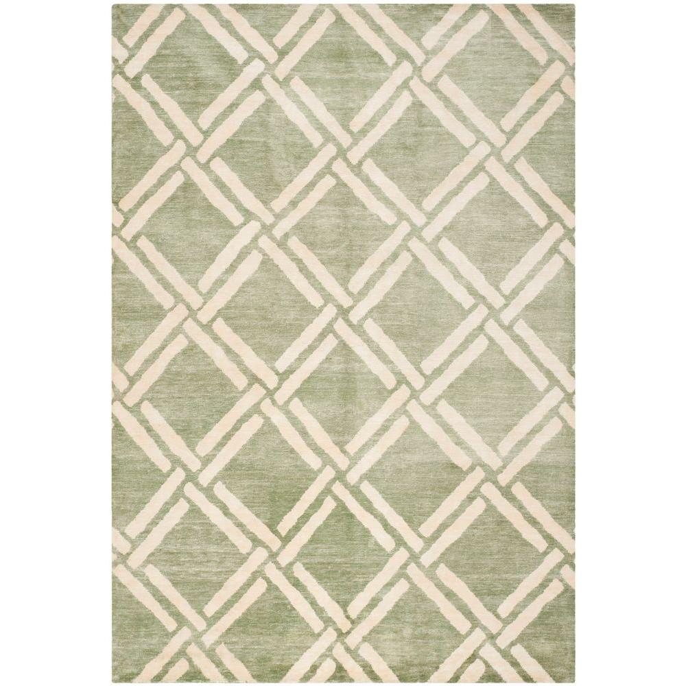 Safavieh Moroccan Green/Ivory 9 ft. x 12 ft. Area Rug