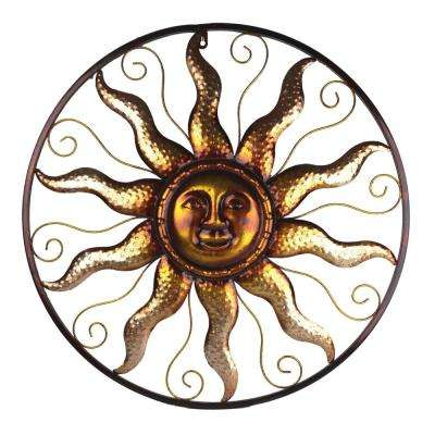 Steel Bronze Sun Decorative Wall Art