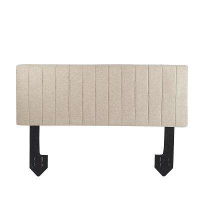Delilah Channel Tufted Powered Beige King Headboard