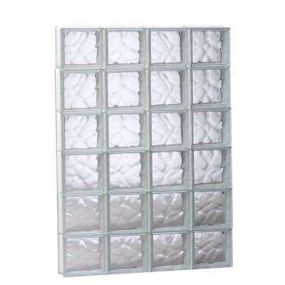 31 in. x 46.5 in. x 3.125 in. Frameless Wave Pattern Non-Vented Glass Block Window