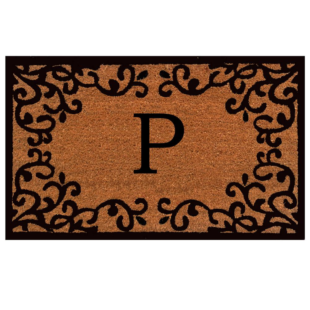 Home U0026 More Chateaux Monogram Door Mat 24 In. X 36 In. (Letter