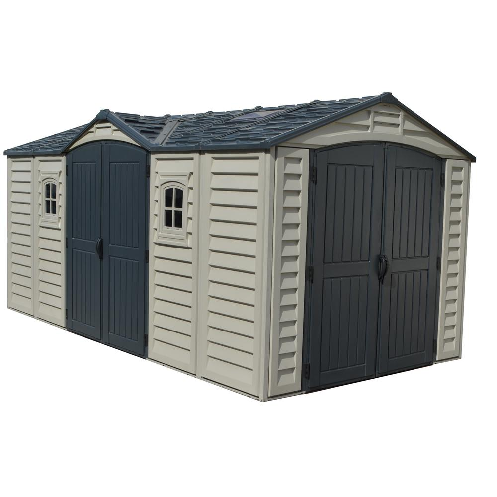 Duramax Building Products Apex Pro 15.9 ft. x 8.1 ft. Vinyl Storage Shed