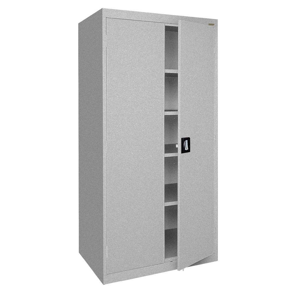 Elite Series 72 in. H x 36 in. W x 18 in. D 5-Shelf Steel Freestanding Storage Cabinet in Multi Granite