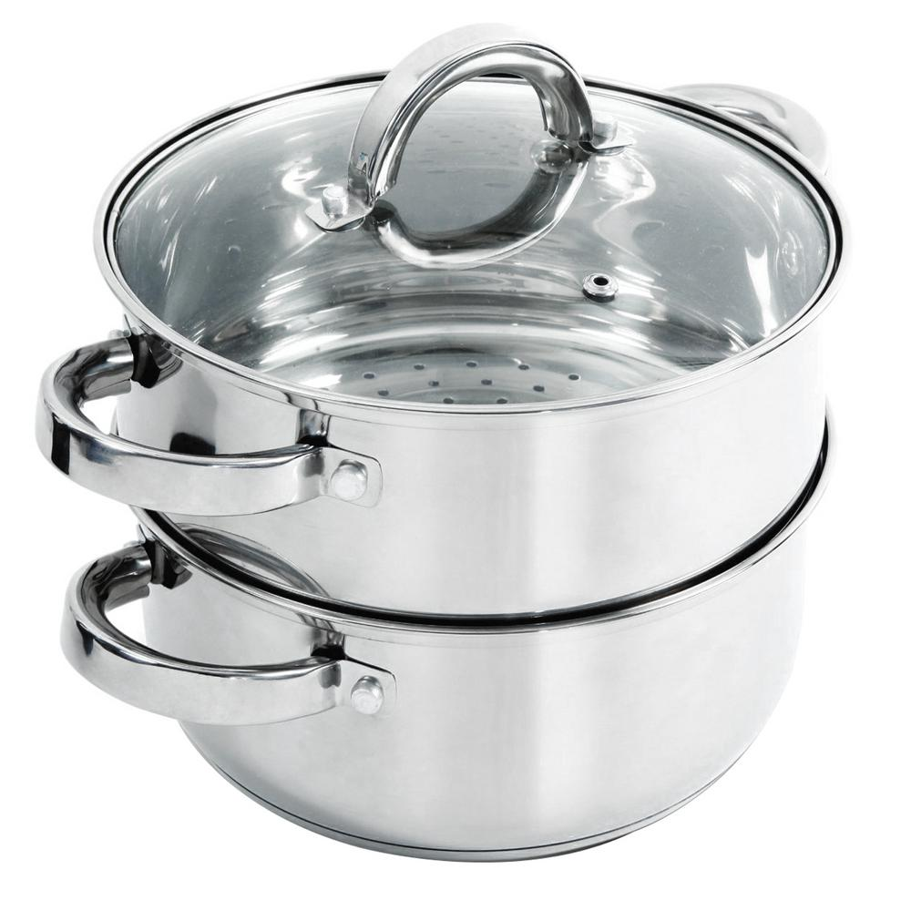 Hali 3 Qt. Stainless Steel Steamer Set with Lid