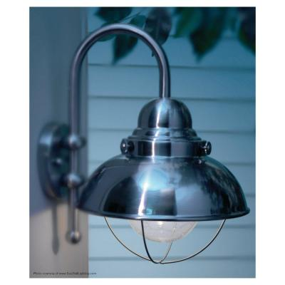Sebring 1-Light Black Outdoor 11.25 in. Wall Lantern Sconce