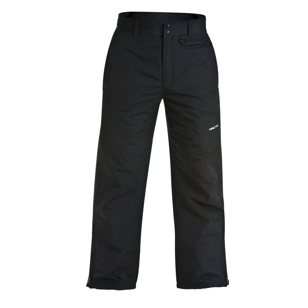 ARCTIX Mens Insulated Classic Series 29-31 in. x 31 in. Small Snow Pant with Adjustable Waist in Black