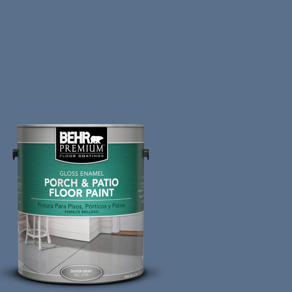 1 gal. #600F-6 Atlantic Blue Gloss Porch and Patio Floor Paint