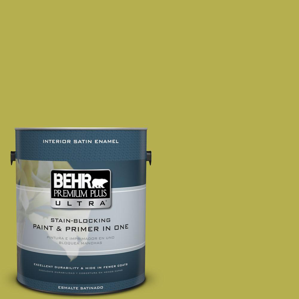 BEHR Premium Plus Ultra 1 gal. #P350-6 Laser Satin Enamel Interior Paint