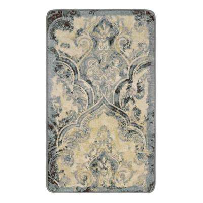 Daventry Taupe 2 ft. x 4 ft. High Definition Printed Memory Foam Area Rug