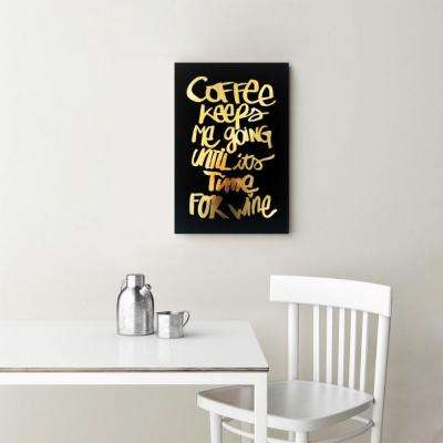 "16 in. x 24 in. ""Coffee and Wine Black"" By Wynwood Studio Canvas Wall Art"