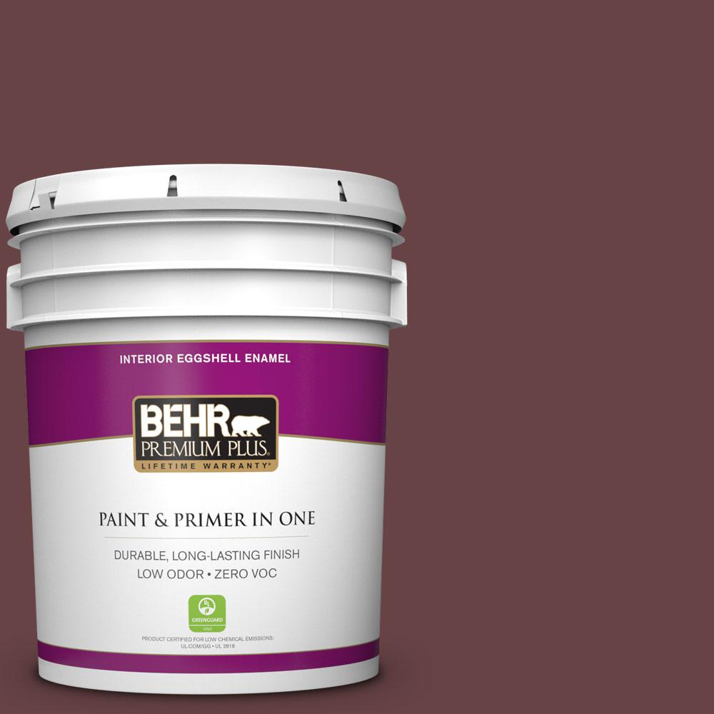 5 gal. #MQ1-14 Twinberry Eggshell Enamel Zero VOC Interior Paint and