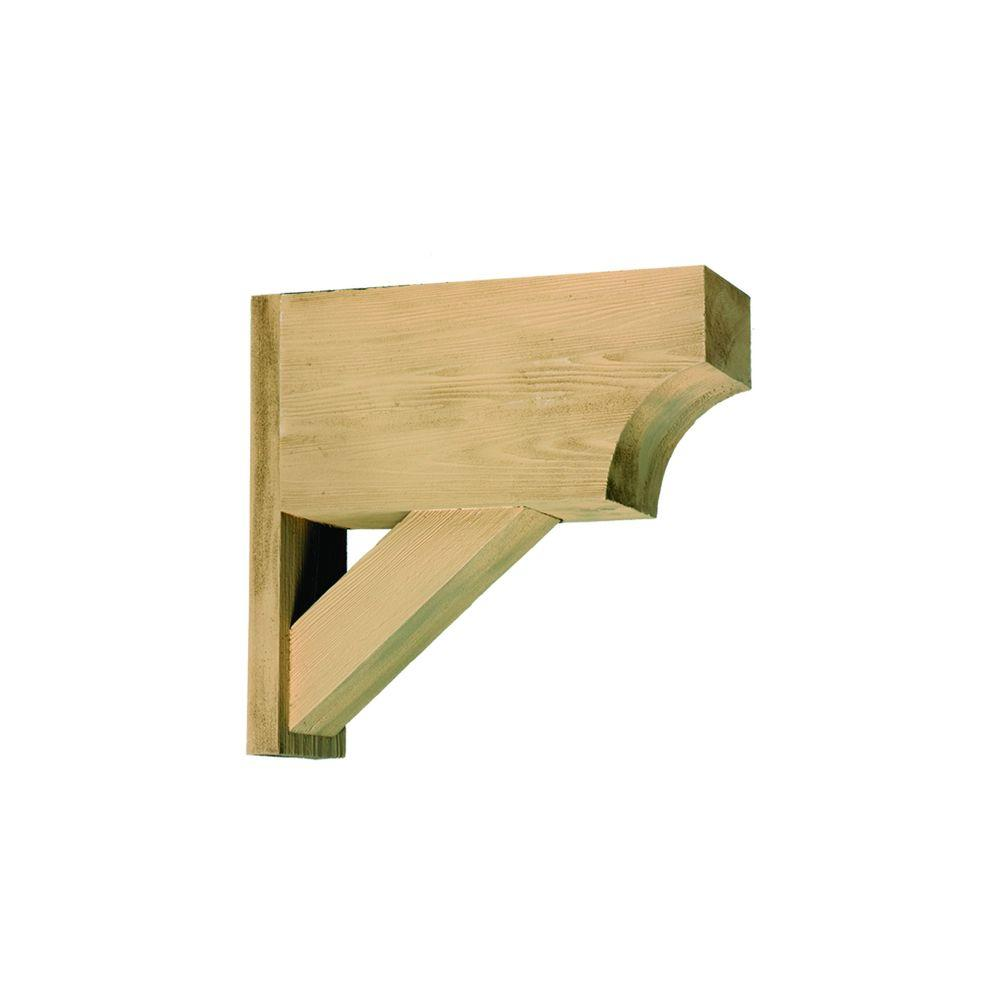 21-1/2 in. x 20 in. x 5-1/2 in. Polyurethane Timber Bracket