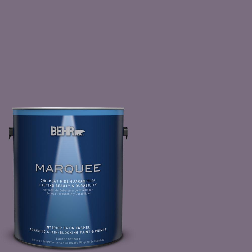 1 gal. #MQ5-37 Composer's Magic One-Coat Hide Satin Enamel Interior Paint