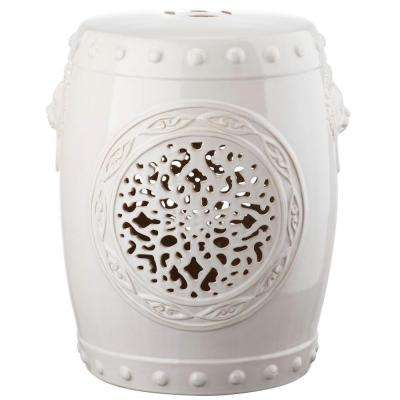 Flower Drum Cream Garden Patio Stool