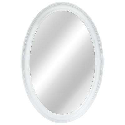 21 in. W x 31 in. L Framed Fog Free Wall Mirror in White