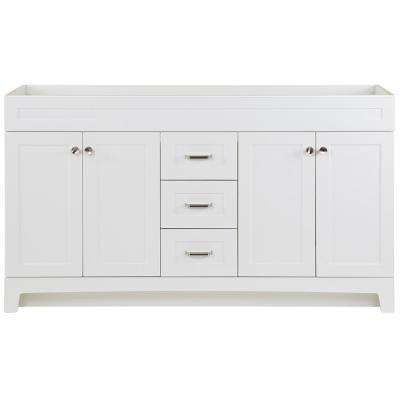Thornbriar 60 in. W x 21.52 in. D x 34.25 in H Bath Vanity Cabinet Only in White