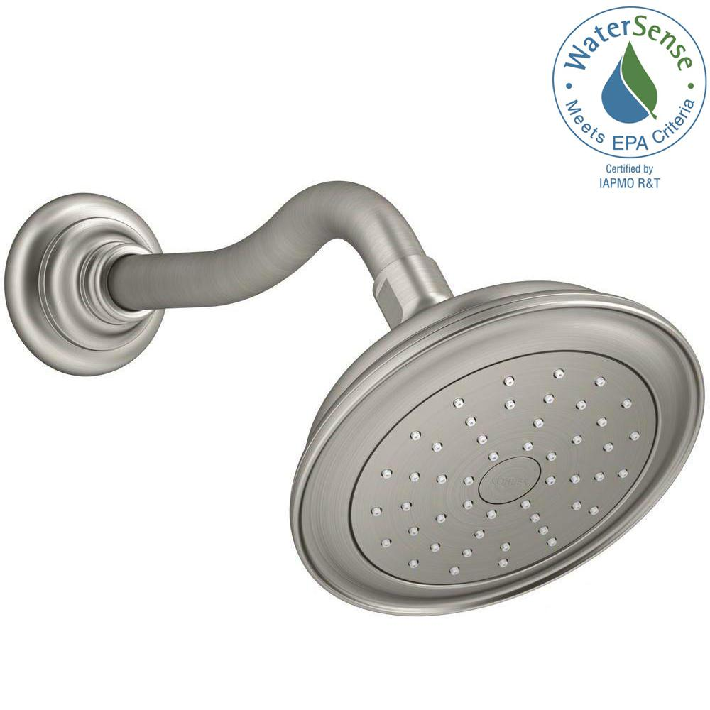 KOHLER Artifacts 1-Spray 5.5 in. Rainhead Katalyst Showerhead in ...
