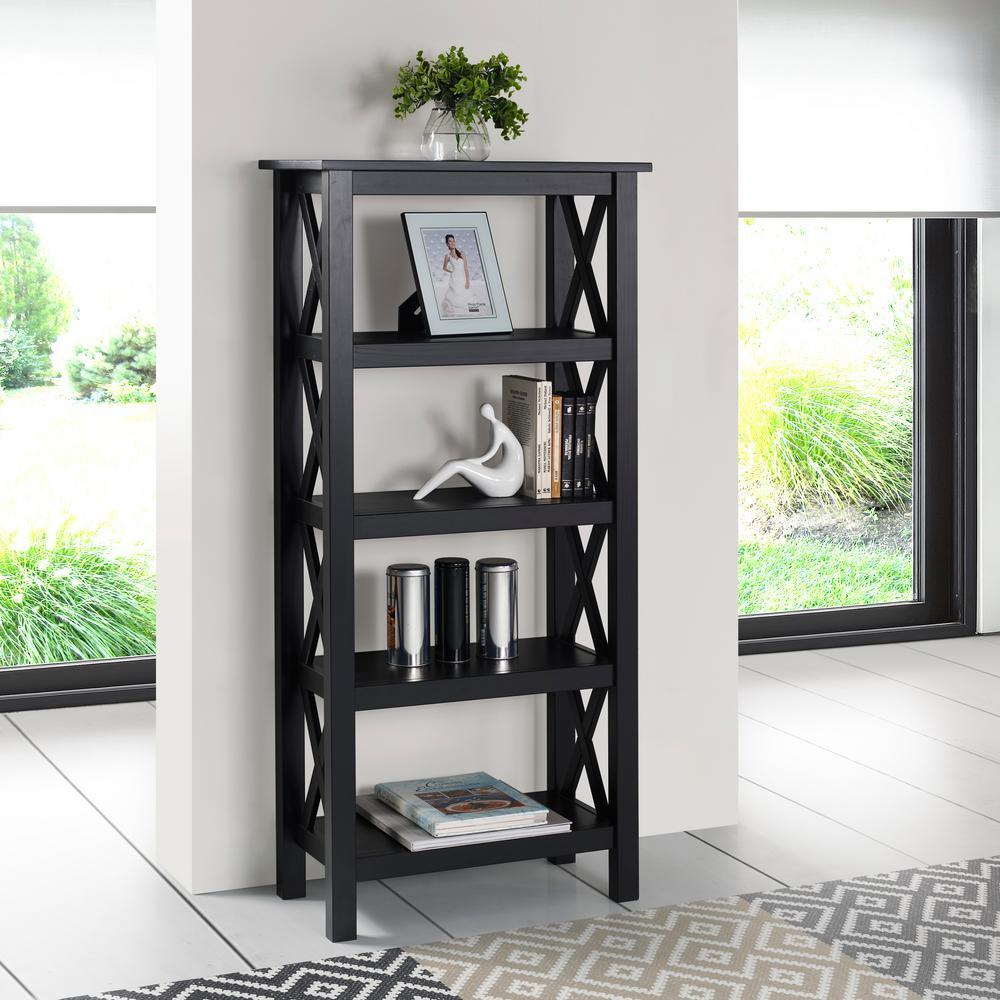 Ramsey Black Bookcase