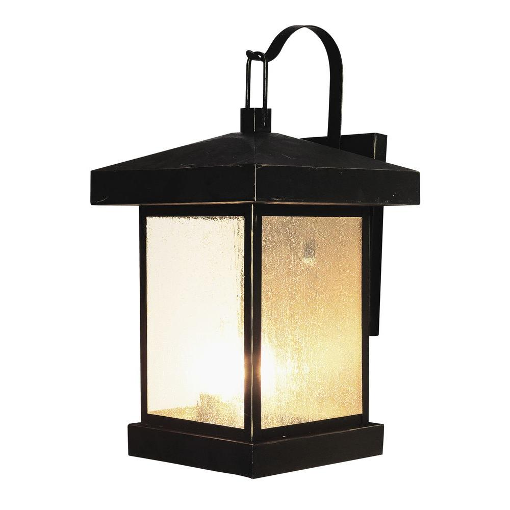 Stewart 3-Light Weather Bronze Outdoor Incandescent Wall Lantern