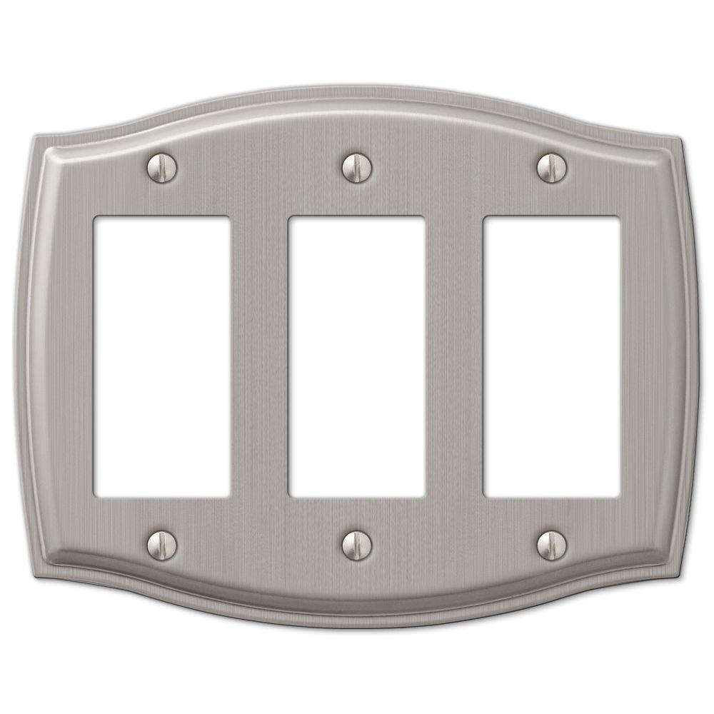 sonoma 3gang decora wall plate nickel