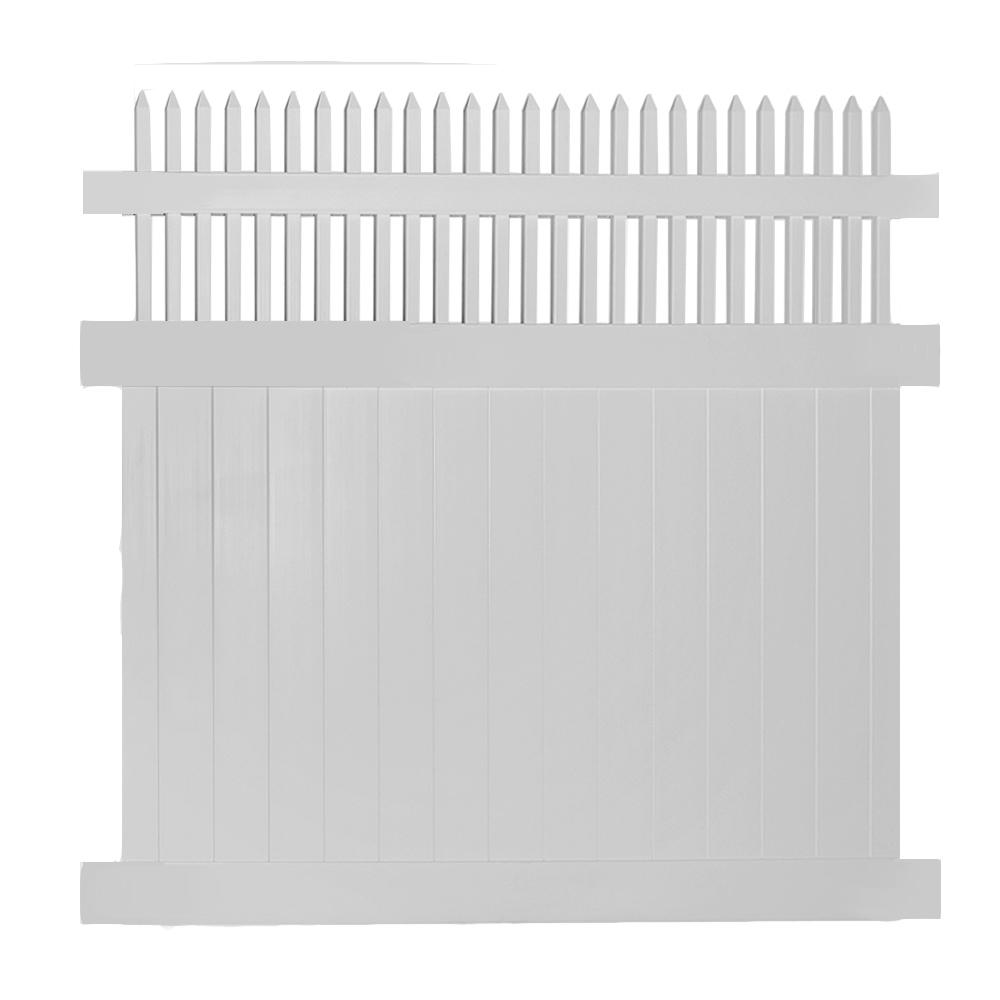 Weatherables Tremont 6 Ft X 8 Ft Tan Vinyl Privacy Fence