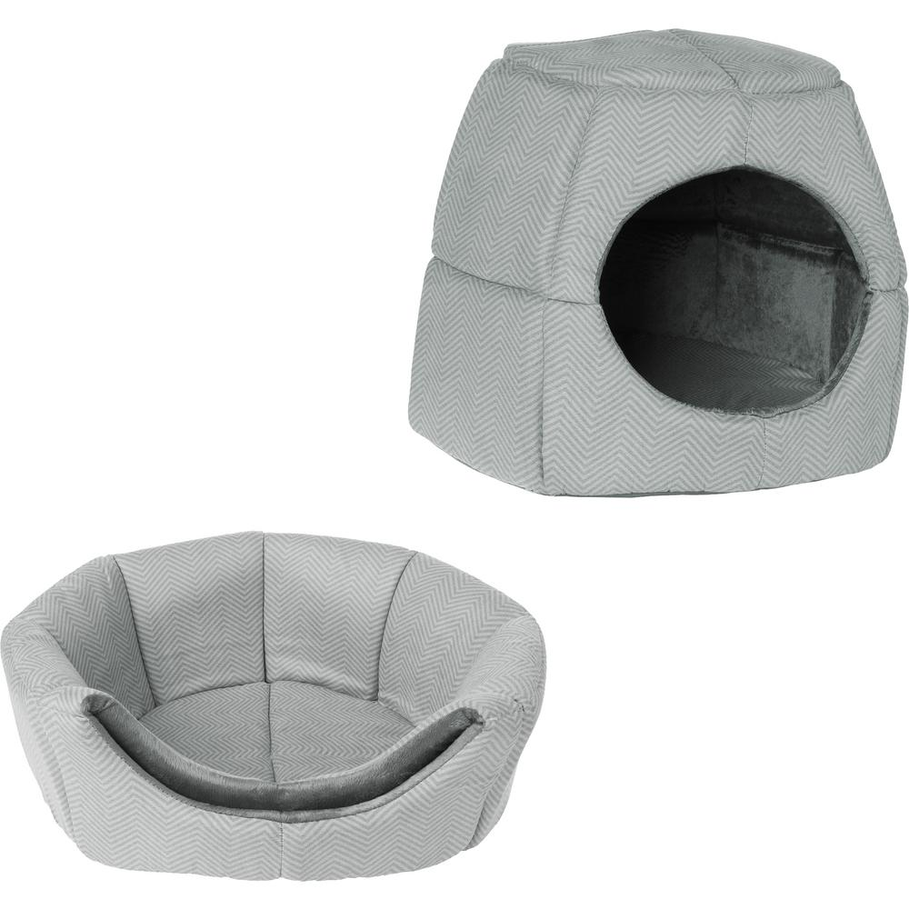 Pleasant Petmaker Small To Medium 2 In 1 Convertible Pet Bed With Enclosed Cave Customarchery Wood Chair Design Ideas Customarcherynet