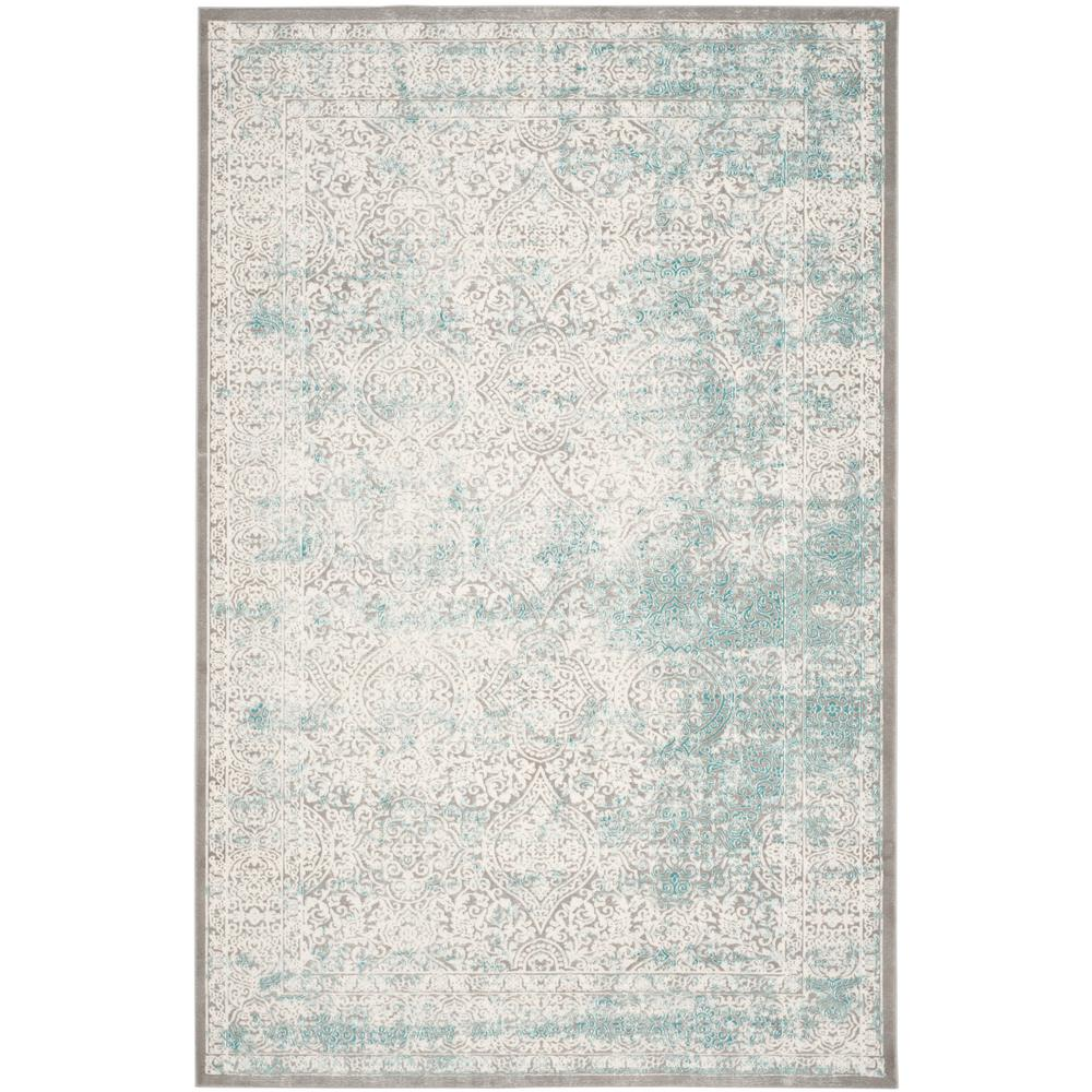 Safavieh Passion Turquoise/Ivory 8 ft. x 11 ft. Area Rug