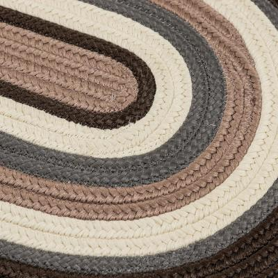Frontier 8 ft. x 8 ft. Brown Round Braided Area Rug