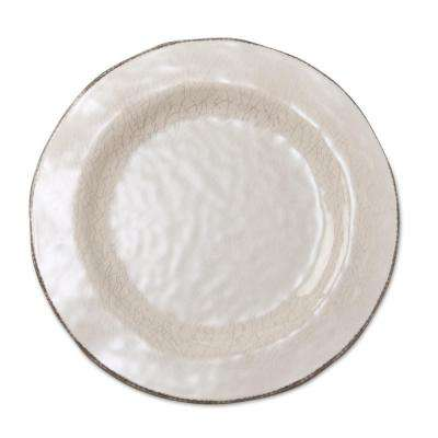 10-3/4 in. Ivory Veranda Melamine Dinner Plates (Set of 4)