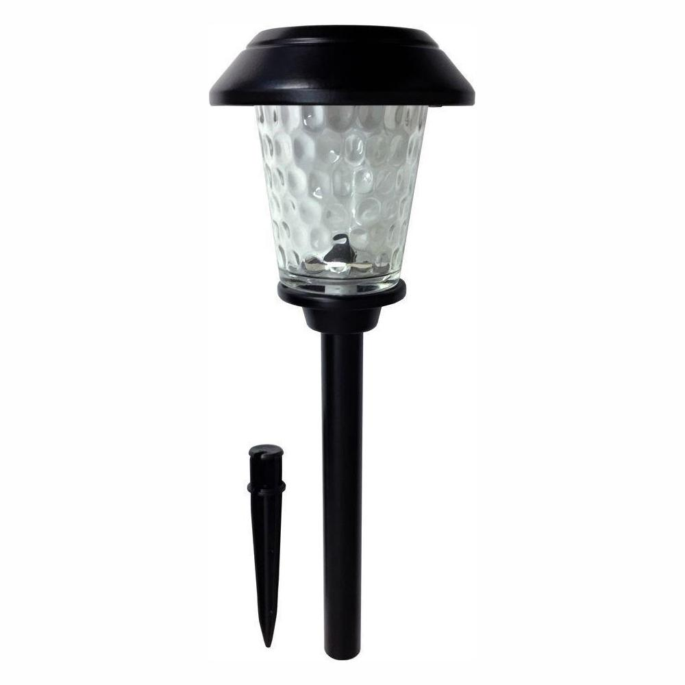 Hampton Bay Solar Powered Integrated Led Black Landscape: Hampton Bay Solar Black Metal Outdoor Integrated LED