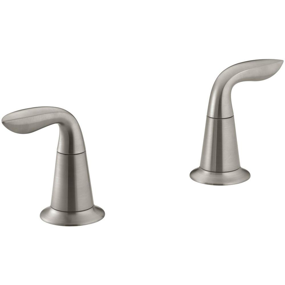 Refinia 2-Handle Deck-Mount Bath Faucet Trim Kit in Vibrant Brushed Nickel