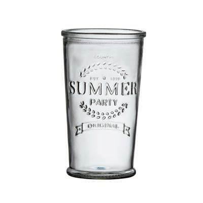 Summer Party 16 oz. 6-Piece Clear Glass Hiball Drinkware Set