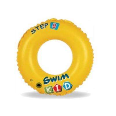 20 in. Kids Yellow Inflatable Ring Inner Tube