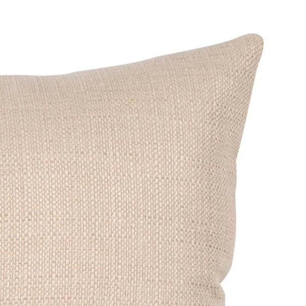 Sterling Sand Solid Polyester 6 in. x 22 in. Throw Pillow
