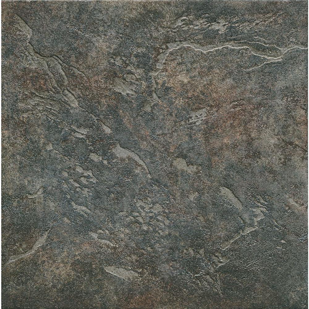 ELIANE Mt. Everest Nero 18 in. x 18 in. Glazed Porcelain Floor & Wall Tile (13.13 Sq. ft./Case)