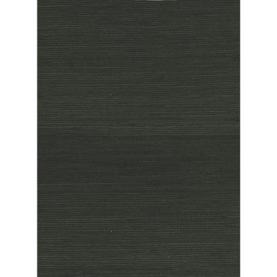 Ebony Jute Grasscloth Wallpaper