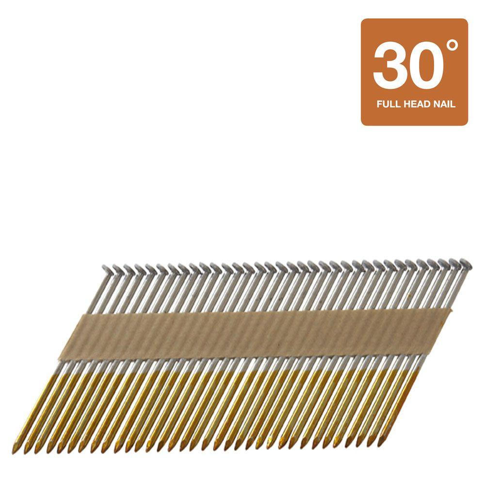 Hitachi 3 in. x 0.131 in. Offset-Head Smooth Shank Hot-Dipped Galvanized Paper Tape Framing Nails (2,500-Pack)