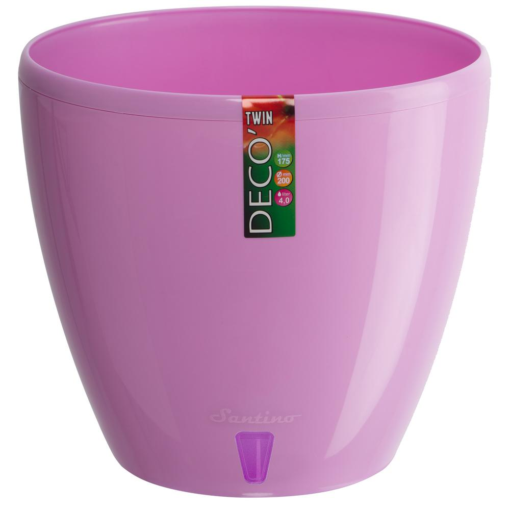 Plant pots planters the home depot deco 55 in lavender plastic self watering planter mightylinksfo
